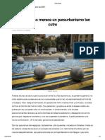 Barcelona no merece un paraurbanismo tancutre