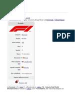 Storia della Formula1