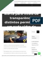 Lei Do Insulfilm 2019 Alerta Para Níveis de Transparência Distintos Permitidos Em Cada Vidro Do Veículo _ Películas
