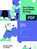 Blue and Green Illustrated Social Media Strategy Marketing Presentation