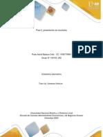 Unidad - Paso 5 - Presentación de Resultados