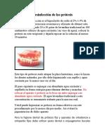 Desinfección de las prótesis