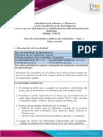 Guía de actividades y Rúbrica de evaluación - Paso 1 - Mapa mental