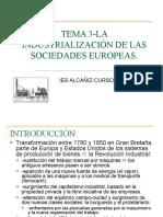 TEMA 3-LA INDUSTRIALIZACION DE LAS SOCIEDADES EUROPEAS