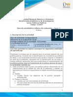 Guìa de Actividades y Rúbrica de Evaluación - Tarea 5 - Análisis
