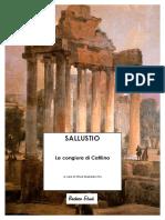 Sallustio - La Congiura Di Catilina - Standard