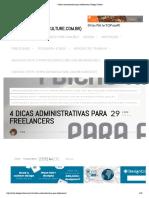 4 dicas administrativas para freelancers _ Design Culture