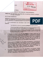 Carta notarial enviada por candidato Julio Torres Aliaga