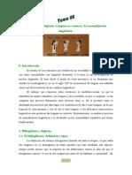 Tema 08. Bilinguismo y diglosia. Lenguas en contacto. La normalizacion linguistica