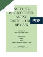 Diferencia Entre Extasis,Vision,Ministerial