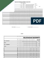 SCORE Sheet  Format Baru - BAM