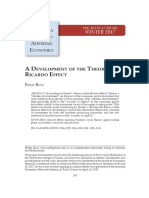 A Development of the Theory of the Ricardo Effect