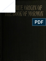 True Origin of the Book of Mormon