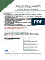 AGENDA DO 6º ANO - 28 DE SETEMBRO A 02 DE OUTUBRO