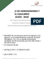 BALANCE DE HIDROGENIONES Y EL EQUILIBRIO ACIDO BASE