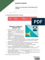 Business Telephone Etiquette SV
