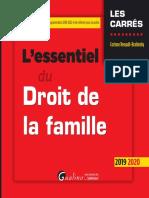 @SciencesJuridiques L'Essentiel Du Droit de La Famille