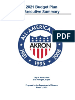 2021 Budget Plan Executive Summary