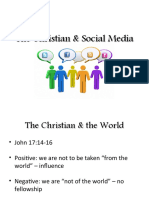 The Christian and Social Media