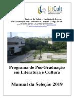 Manual - Seleção PPGLitCult 2019