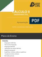 Apresentação Cálculo II