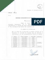 Listas de Vacunados en Mendoza