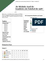 Lista de jogos do Módulo Azul do Campeonato Brasileiro de Futebol de 1987