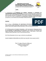 Resoluo n 014 19-CEPE - Cria o PROFHISTORIA e recomenda a aprovao do Regimento Interno do PROFHISTRIA