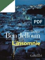 L'Insomnie - Ben Jelloun,Tahar