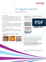 Are your Xerox Supplies genuine