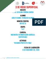 SISTEMA DE RIEGO SUPERFICIAL 5TA UNIDAD