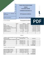 contabilidad administrativa Presupuesto Efectivo