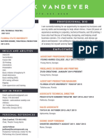 zack vandever- resume