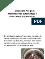 Tipos de Aceite ATF Para Transmisiones Automáticas y