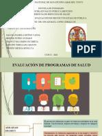 EVALUACION DE PROGRAMAS DE SALUD