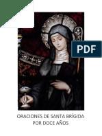 7 Oraciones de Santa Brígida por 12 años
