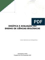 DIDÁTICA E AVALIAÇÃO NO ENSINO DE CIÊNCIAS BIOLÓGICAS