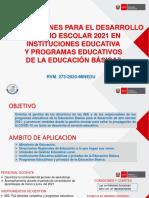 RVM Nº 273-2020-MINEDU Orientaciones Para El Año Escolar 2021 Ccesa007