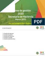 Informe de Gestión Secretaría de Hacienda 2020