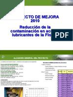 PROYECTO CONTROL DE CONTAMINANTES 2010 Resumen GG