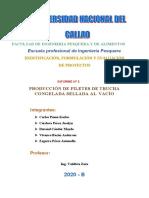 PRODUCCIÓN DE FILETES DE TRUCHA CONGELADA SELLADA AL VACÍO (edit.)