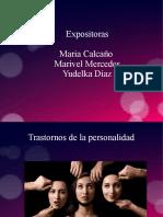 EXPOSICION DE LOS TRASTORNOS DE LA PERSONALIDAD