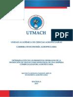 DETERMINACIÓN DE LOS BENEFICIOS GENERADOS DE LA PROMOCIÓN DE VENTAS COMO ESTRATEGIA DE UNA EMPRESA COMERCIALIZADORA AGROPECUARIA