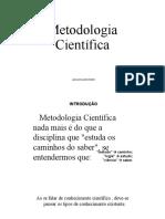 AULA 020321 Metodologia Científica