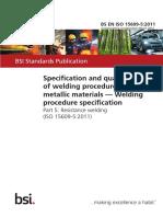 BS EN ISO 15609-5-2011 (2012)