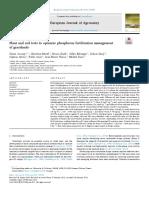 Plant and soil tests to optimize phosphorus fertilization management of grasslands