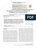 MANAGEMENT ACCOUNTING IN CONDITIONS OF MODERNIZATION OF THE ECONOMY