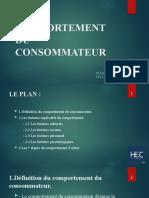 LE COMPORTEMENT DU CONSOMMATEUR (TECHNIQUE DE VENTE)