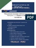 MATRICES GESTIÓN ESTRATÉGICA DE ORGANIZACIONES