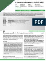 LHV Steuerberatung Steuerinformation Landwirtschaft Q1 2021